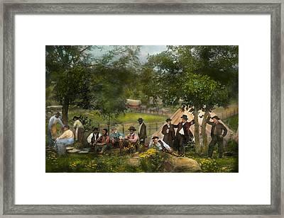 Civil War - Gettysburg Camp Of Captain Huft 1865 Framed Print by Mike Savad