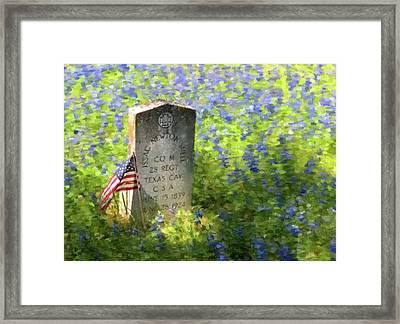 Civil War Gravestone Framed Print by Gary Grayson