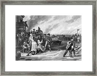 Civil War: Martial Law Framed Print by Granger