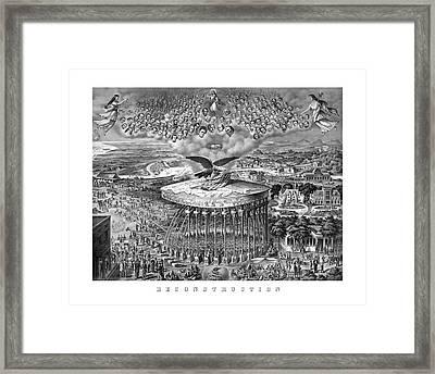Civil War Reconstruction Framed Print by War Is Hell Store