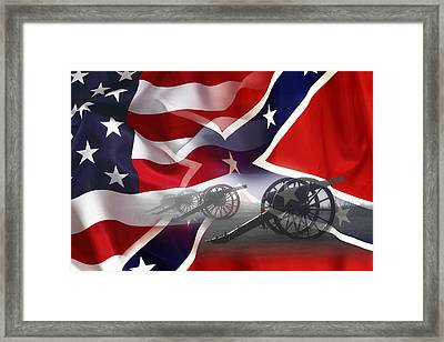 Civil War Silent Cannons Framed Print by Daniel Hagerman