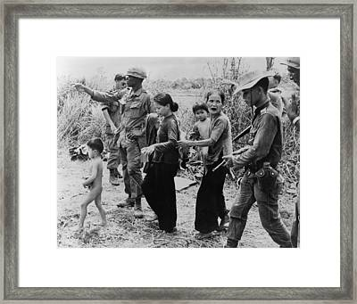 Civilians Suffered Greatly Framed Print by Everett