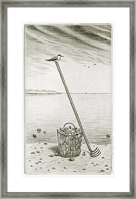 Clamming Framed Print by Charles Harden