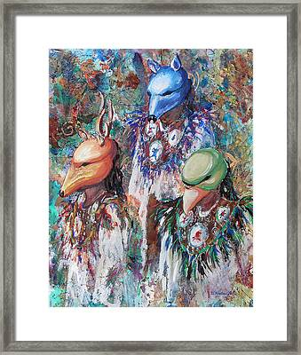 Clan Dancers Framed Print by Li Newton