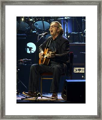 Clapton Acoustic Framed Print by Steven Sachs