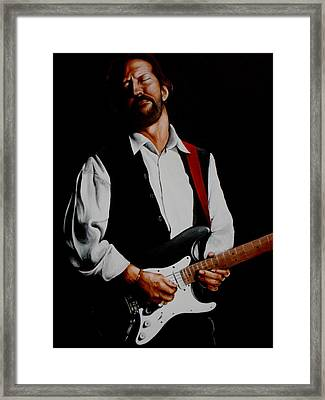 Clapton With Red Strap Framed Print by Richard Klingbeil