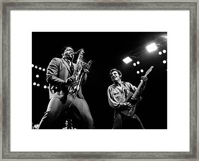 Clarence And Bruce 1981 Framed Print by Chris Walter