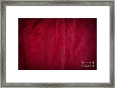 Claret Organza Texture Abstract Framed Print by Arletta Cwalina