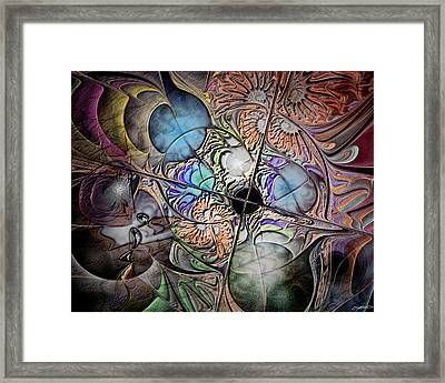 Clash Of The Earthly Elements Framed Print by Casey Kotas