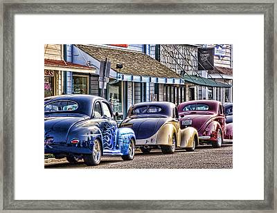 Classic Car Show Framed Print by Carol Leigh