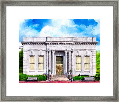 Classic Carnegie Library - Montezuma Georgia Framed Print by Mark Tisdale