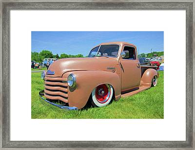 Classic Chevrolet Truck Framed Print by Marion Johnson