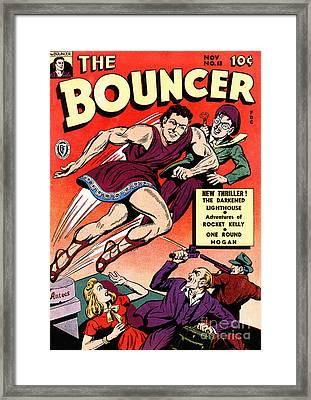 Classic Comic Book Cover The Bouncer 13 Framed Print by Wingsdomain Art and Photography