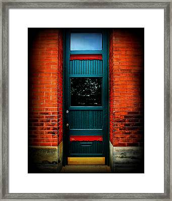 Classic Door Framed Print by Perry Webster