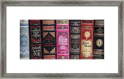 Classic English Literature Books Framed Print by Tim Gainey
