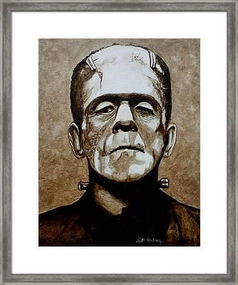 Classic Frankenstein Framed Print by Al  Molina