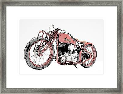 Classic Indian Motorcycle Sketch Framed Print by Pablo Franchi