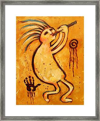 Classic Kokopelli Framed Print by Carol Suzanne Niebuhr