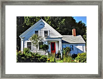 Classic Maine New Englander Framed Print by  Judy Bernier