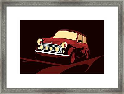 Classic Mini Cooper In Red Framed Print by Michael Tompsett