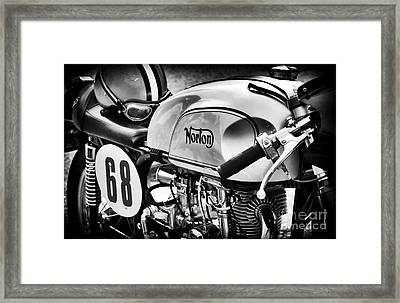 Classic Norton Cafe Racer  Framed Print by Tim Gainey