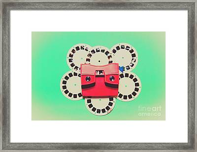 Classic Old Media Slide Show Viewer Framed Print by Jorgo Photography - Wall Art Gallery