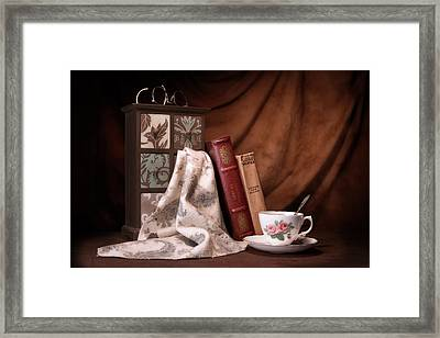 Classic Reads Still Life Framed Print by Tom Mc Nemar