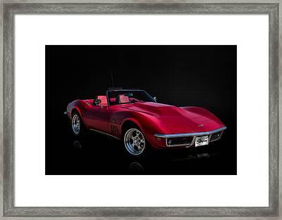 Classic Red Corvette Framed Print by Douglas Pittman