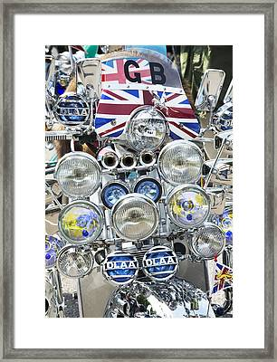 Classic Scooter Framed Print by Tim Gainey