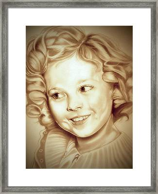 Classic Shirley Temple Framed Print by Fred Larucci