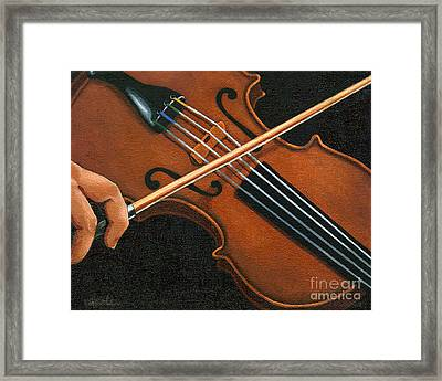 Classic Violin Framed Print by Linda Apple