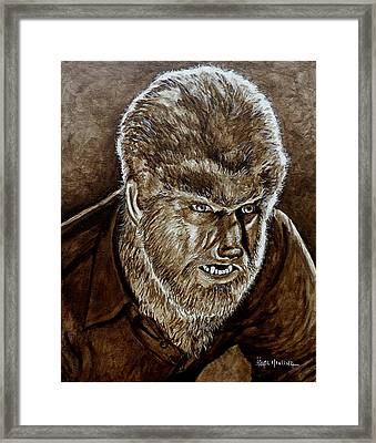 Classic Wolfman Framed Print by Al  Molina