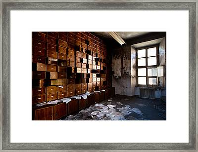 Classified And Forgotten - Urban Exploration Framed Print by Dirk Ercken