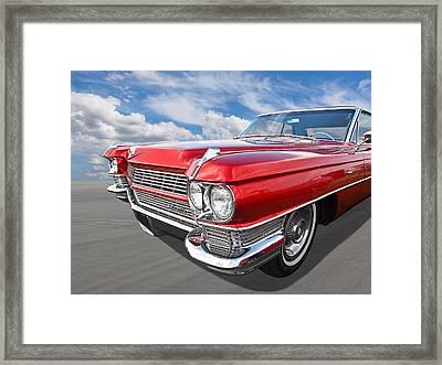 Classy - '64 Cadillac Framed Print by Gill Billington