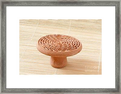 Clay Foot Exfoliator Pumice Framed Print by Arletta Cwalina