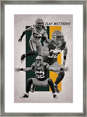 Clay Matthews Green Bay Packers Framed Print by Joe Hamilton