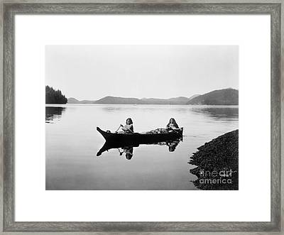 Clayoquot Canoe, C1910 Framed Print by Granger