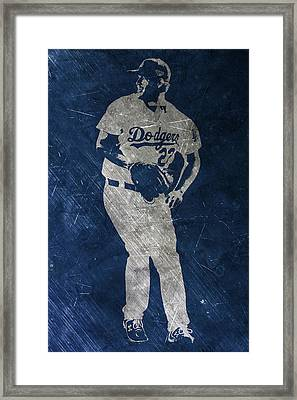 Clayton Kershaw Los Angeles Dodgers Art Framed Print by Joe Hamilton