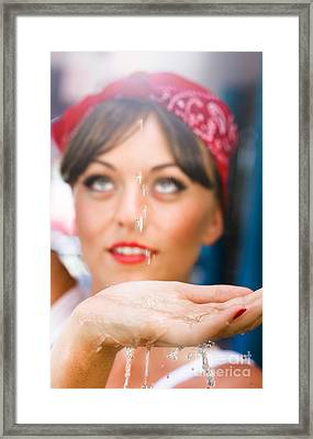 Cleaner With Water Framed Print by Jorgo Photography - Wall Art Gallery