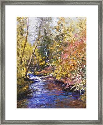 Clear Creek Framed Print by Jan Hardenburger