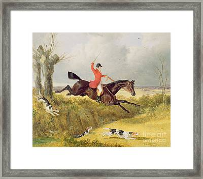 Clearing A Ditch Framed Print by John Frederick Herring Snr