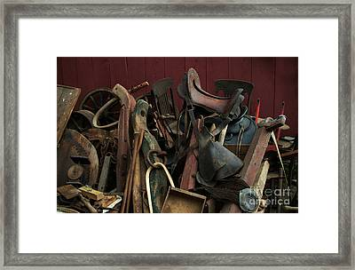 Clearing Out The Barn Study 1 Framed Print by Georgia Sheron