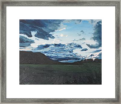 Clearing Over Mnt Megantic Framed Print by Francois Fournier
