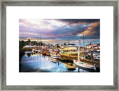 Clearing Storm Over The Pacific Ocean Framed Print by TL Mair