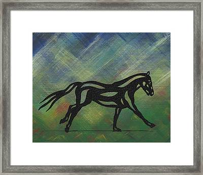 Clementine - Abstract Horse Framed Print by Manuel Sueess