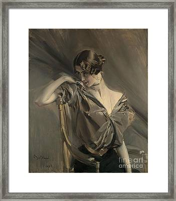 Cleo De Merode Framed Print by Giovanni Boldini