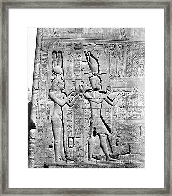 Cleopatra And Caesarion, Temple Framed Print by Science Source