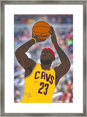 Cleveland Cavaliers - Lebron James - 2014 Framed Print by Troy Arthur Graphics