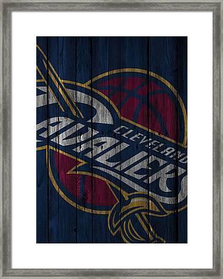 Cleveland Cavaliers Wood Fence Framed Print by Joe Hamilton
