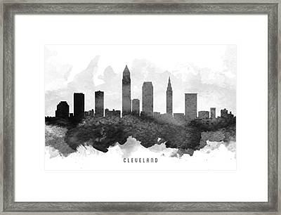 Cleveland Cityscape 11 Framed Print by Aged Pixel